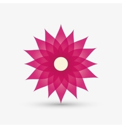 Graphic design of flower  editable vecctor vector