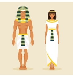 Ancient Egyptian man and a woman vector image vector image