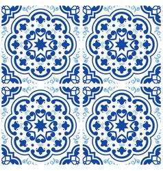 Azulejos portuguese tile floor pattern lisbon vector