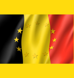 Belgium national flag with a circle of eu vector