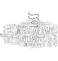 Best weight loss supplement text word cloud vector