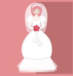 Girls in bride costume no10 vector