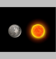 high quality sun planet galaxy astronomy earth vector image vector image
