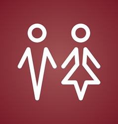 Male and Female Restroom Symbol Icon vector image vector image