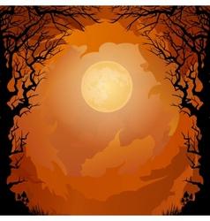 Moonlight Halloween background vector image vector image