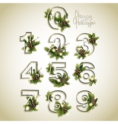 New Year collection of numerals vector image