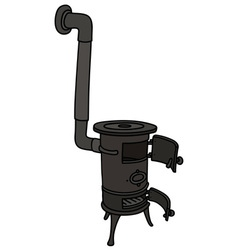 Old small stove vector