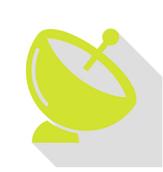 Satellite dish sign pear icon with flat style vector