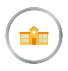 School icon cartoon single building icon from the vector