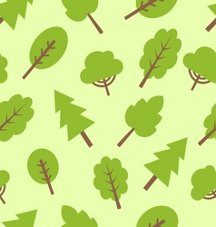 Seamless pattern with different trees in flat vector image vector image
