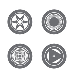 Set of wheel rims vector image vector image