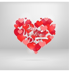 St Valentines greeting card with wishes vector image vector image