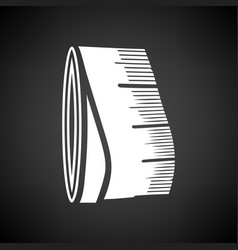 Tailor measure tape icon vector