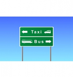 transport sign vector image vector image