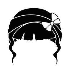 woman hair icon vector image