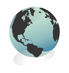 World globe vector image