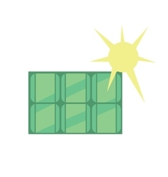 Solar panel eco icon vector