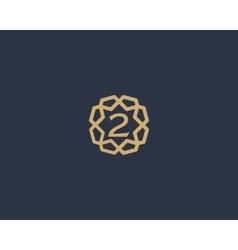 Premium number 2 logo icon design Luxury vector image