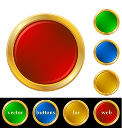 Ring buttons for web vector