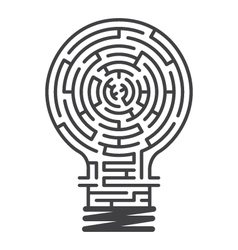 Idea maze game white background vector