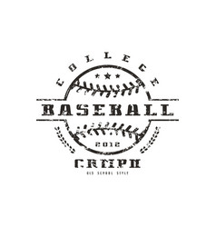 emblem of baseball college championship vector image