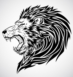 Lion roar tattoo vector