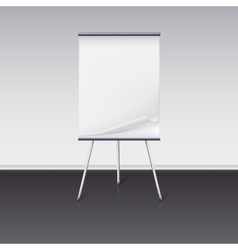 Board for presentations with sheet of paper stand vector