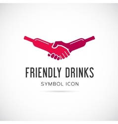 Friendly Drinks Bar Concept Symbol Icon or Logo vector image