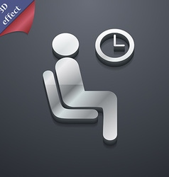 Waiting icon symbol 3d style trendy modern design vector