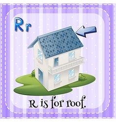 Alphabet r is for roof vector