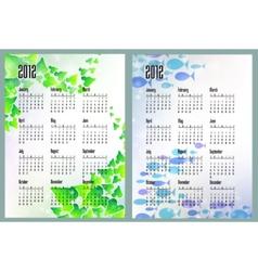 nature calendars vector image