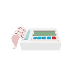 Printing of cardiogram cartoon icon vector image