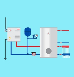 Electric boiler in the cottage green energy vector