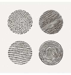 Circles set  texture vector