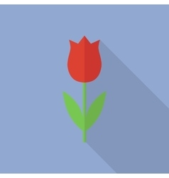 Tulip icon in a flat style vector image