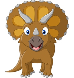 Cute triceratops three horned vector