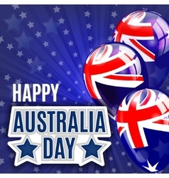 Australia day background national celebration vector