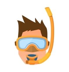 Diver face vector