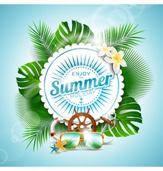 Enjoy the summer holiday typographic design vector