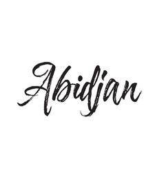 Abidjan text design calligraphy vector