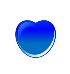 Blue heart vector