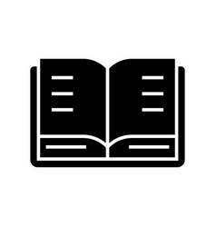 book open icon black sign on vector image vector image