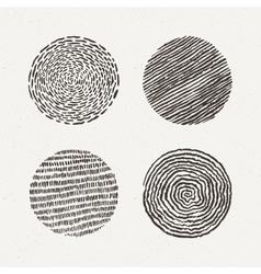 Circles set texture vector
