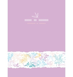 Colorful pastel branches vertical torn seamless vector image