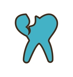 dental healthcare isolated icon vector image vector image