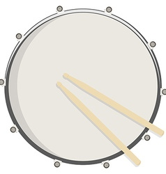 Drum and sticks vector image vector image