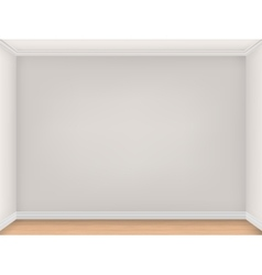 Empty room with three beige walls vector image vector image