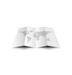 Empty worldmap isolated on white background vector
