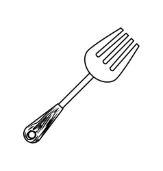 Figure carving fork icon image vector