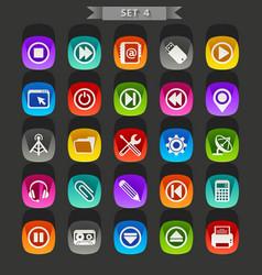 Flat icons-set 4 vector